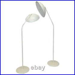1 Kurt Versen Vtg Mid Century Modern Saucer Gooseneck Arm Floor Lamp Lightolier
