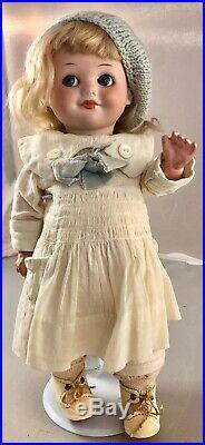 11 Antique German Bisque Head Googly Doll! Rare! Beautiful! 18009