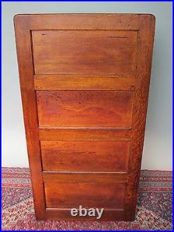 14 Drawer Antique Victorian Raised Paneled Oak File Cabinet