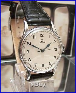 1943/44 Antique Vintage Omega Raf Pilot / Navigator Mi, Itary Ww2 Watch Serviced