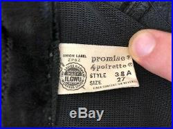 1950 GIRDLE CORSET VINTAGE LINGERIE Black color! RARE FIND & CONDITION SIZE 27