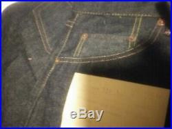 1966 Levis Big E 501XX Button Up Blue Jeans Dead Stock, NOS 31x36 WithReceipt