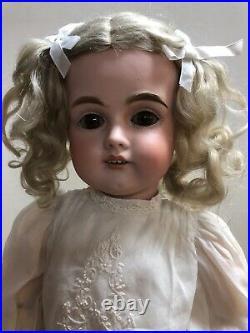 23 Antique German Kestner 167 Original Mohair & Shoes Brown Sleep Eyes #SC4