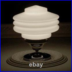 308 Vintage Ceiling Light Lamp Fixture Glass New Wired 5 tiered 1 of 3