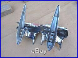 30s 40s 50s SPIKED REAR VIEW SIDE MIRRORS Original Vintage Accessory Custom Rod