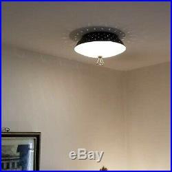 494b 50s 60's MOE Vintage Ceiling Light Lamp Fixture atomic mid-century eames