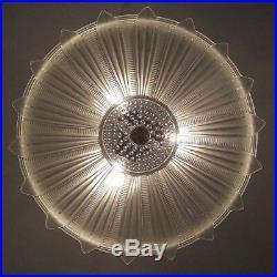 549 Vintage 40's Ceiling Light Lamp Fixture Chandelier antique SUNFLOWER