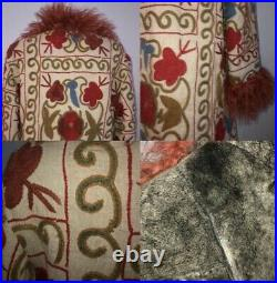 Afghan Coat Sheepskin Floral Embroidered Coat Penny Lane Coat ZAZI Coat Hippie