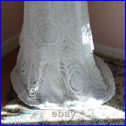 Antique Edwardian 1900s White Cotton Cut Work Lace Summer Lawn or Tea Dress