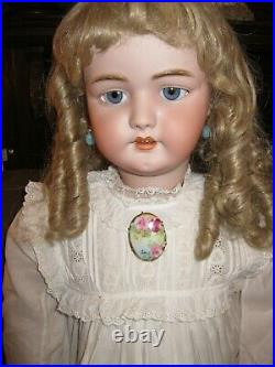 Antique Simon Halbig 1079 Dep Bisque Head Life Size 33 Doll For French Market
