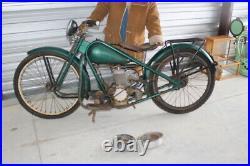 Antique Vintage 1940's Simplex Servi Cycle Motorcycle For Restoration Or Parts