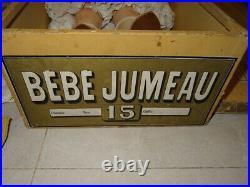 Antique exceptional large rare E. J size 15 in his box Jumeau with trousseau