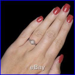 Art Deco Diamond 18k Engagement Ring Original Vintage Solitaire Antique Natural