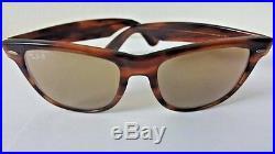 B&L Ray-Ban Bausch & Lomb U. S. A 50 Tortoise Shell Wayfarer RB-50 Sunglasses