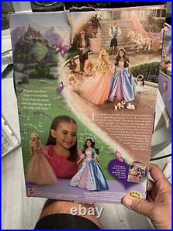 Barbie Doll THE PRINCESS AND THE PAUPER Singing Anneliese 2004 MATTEL Cat