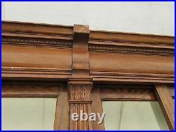 C1895 antique OAK & GLASS APOTHECARY cabinetry 72' long x 8' high Nebraska