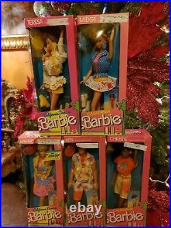California Dream Barbie Midge Ken Teresa Christie Vintage 1987 Dolls Lot Sealed