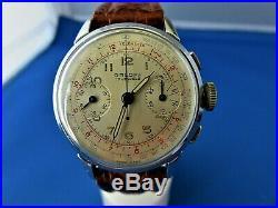 Classy PILOT-style chronograph MEN'S Watch by ORLOFF SWISS VALJOUX 92 WINDING