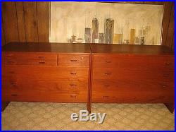 Danish Modern Vintage Teak Dresser Credenza HANS WEGNER