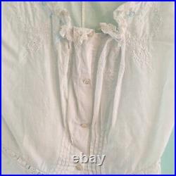 Edwardian Victorian 1900s Cotton Corset Cover Blouse Camisole XS