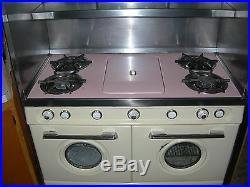 GasStove/Vintage 50's RETRO/WesternHolly/4burner/double-oven/original/PINK&IVORY