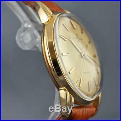 Gorgeous Ulysse Nardin Automatic Sc 18k Solid Gold Fancy Case Original Vintage