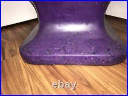 Hand Chair Antique RMIC Mid Century Plastic Modern Retro Vintage 70s PURPLE HTF