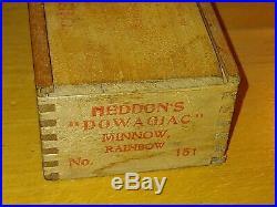 Heddon #151 Dowagiac Minnow With Original Wood Box