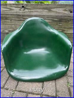 Herman Miller Eames Mid Century Modern Fiberglass Arm Shell Chair Vintage Green