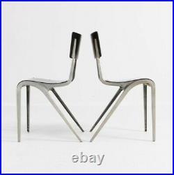 Industrial Vintage Mid-Century Modern Chairs by James Leonard, 1949