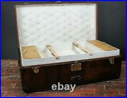 Magnificent Luxury Leather Antique Louis Vuitton Steamer Trunk
