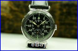 Men's Watch Laco Pobeda Pilot Mechanical WristWatch Soviet USSR MILITARY ZIM