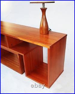 Mid Century Modern Design 2 Piece Sliding Credenza/TV Stand/Wall Unit