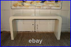 Mid Century Modern Waterfall Console Sofa Hall Table Carl Springer Style