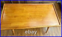 Mid Century Vintage Wood SEWING CRAFT Coffee Puzzle TABLE DESK MCM Vintage