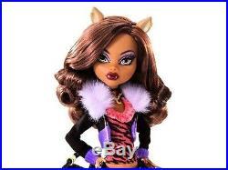 Monster High ORIGINAL Clawdeen Wolf Doll & Pet Cat CRESENT Werewolf New RARE