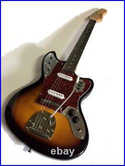 New Jaguar-style 6 String Vintage Sunburst Electric Guitar Tremolo Offset Body