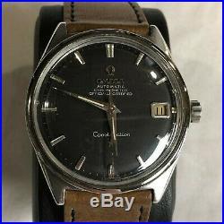 Nice Original Omega Constellation Automatic Date Steel Vintage Gents Watch