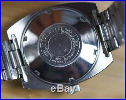 ORIGINAL Vintage CARAVELLE 666 Automatic Devil Diver Watch SERVICED, NOS Crystal