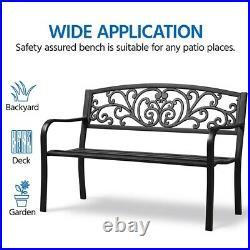 Patio Garden Bench Outdoor Yard Bench Park Bench Chair for Deck, Porch, Backyard