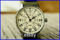 Pobeda Pilot Wings LACO Men's Mechanical Wrist watch Soviet USSR MILITARY ZIM