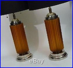 Pr Tripod Art Moderne Iron Torched/ Brutalist Table Lamp MID Century Vintage