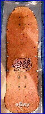 ROB ROSKOPP Designs Skateboard Deck SANTA CRUZ Ugly Face Vintage Original 1980s