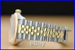 ROLEX MENS DATEJUST 18K YELLOW GOLD & STAINLESS STEEL WATCH with ORIGINAL BAND
