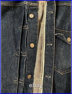 Rare 1940s Type 1 506XX Levi Big E Selvedge Denim Jacket