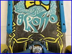 Rare Original Santa Cruz Jeff Grosso Acid Tongue Vintage Skateboard From 1989