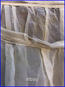 Real 1920s Lingerie Silk Chiffon Embroidered Ruffle Panty Bloomers Pantaloons
