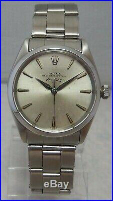 Rolex Oyster Perpetual AIR-KING Mens SS 34mm Watch On Original Oyster Band 1963