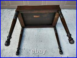 S. E. Shaw Antique Secretary Spinet Desk Flip Top Writing Table Early 1900's