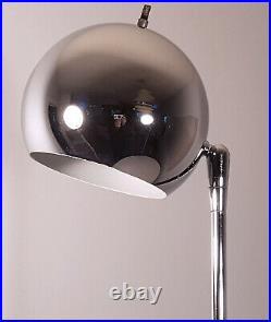 Sonneman Eyeball Floor Lamp Mid-century Modern Chrome Sphere Vintage Space Age